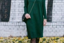 With chain strap bag and ankle boots