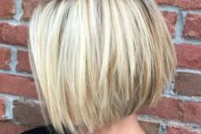 02 a choppy straight bob haircut with a dark root gives your hair a dimension at once