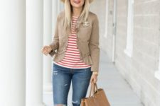 summer to fall look with a straw hat