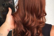 03 chic long auburn hair with waves is all you need to be bold this fall