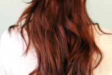 04 half up fishtail braid with loose waves will show off your color the best way possible