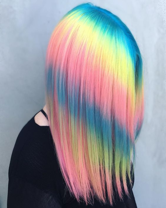 if you hair is very straight, you may go for such a bold ombre dying and stand out with it