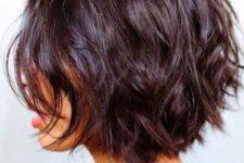 05 a layered black cherry bob haircut looks textural and dimensional