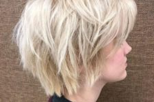 06 a wispy layered platinu blonde bob is a fresh and bold idea to rock