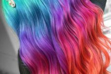 rainbow long hairstyle