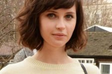 08 a formal bob haircut with side bangs looks rather romantic and cute