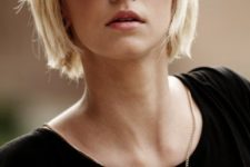 09 a short blonde bob with bangs is a great idea to rock right now