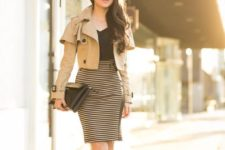 gorgeous fall look with a fitting dress