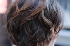 12 a layered shaggy chestnut balayage bob haircut is a chic and frehs idea
