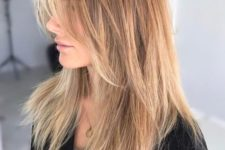 13 a long layered haircut with caramel balayage and shaggy touches for a wow look