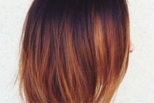 13 long bob from deep plum to auburn and copper and gold – the whole fall palette in one