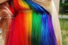 13 naturally blonde hair with a hidden rainbow inside to look like a fairy