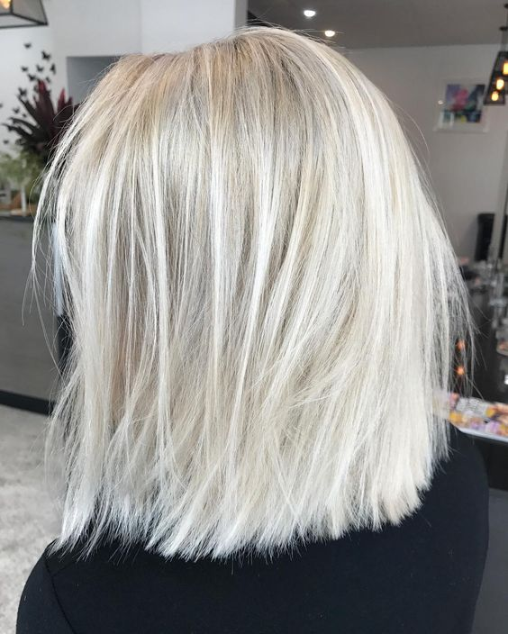 rock silver blonde instead of usual, it's a very trendy and very chic idea to go for