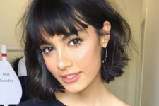 15 a short messy bob with bangs is a great idea to refresh your look