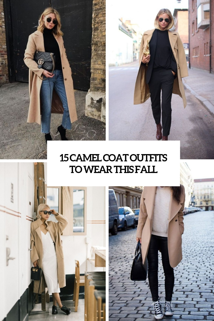 camel coat outfits to wear this fall cover