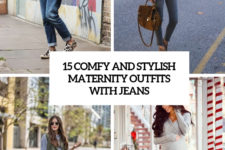 15 comfy and stylish maternity outfits with jeans cover