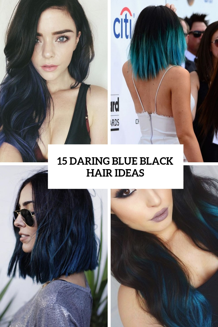 15 Daring Blue Black Hair Ideas