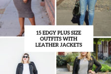 15 edgy plus size outfits with leather jackets cover