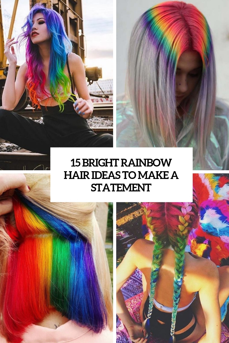 15 Bright Rainbow Hair Ideas To Make A Statement