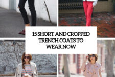 15 short and cropped trench coats to wear now cover
