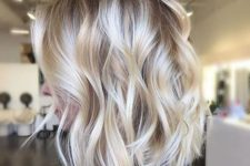 15 soft blonde balayage with a darker toot and silver touches plus messy waves is an edgy option