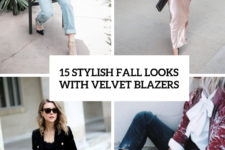 15 stylish fall looks with velvet blazers cover