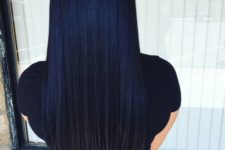 16 midnight blue to black straight ombre hair looks amazing thanks to the length