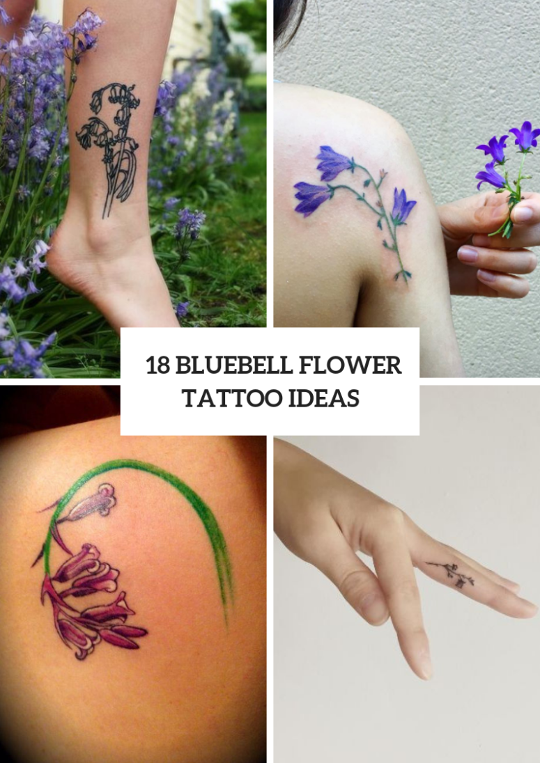 Cute Bluebell Tattoo Ideas For Ladies