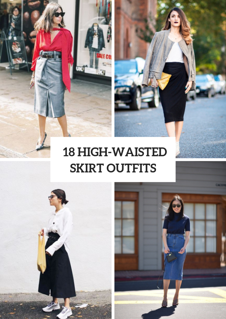 18 Early Fall Outfits With High-Waisted Skirts
