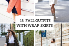 18 Fall Outfits With Wrap Skirts