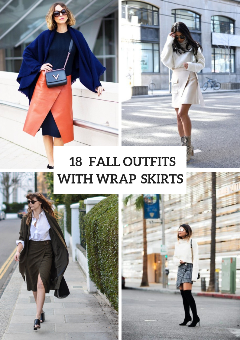 Fall Outfits With Wrap Skirts