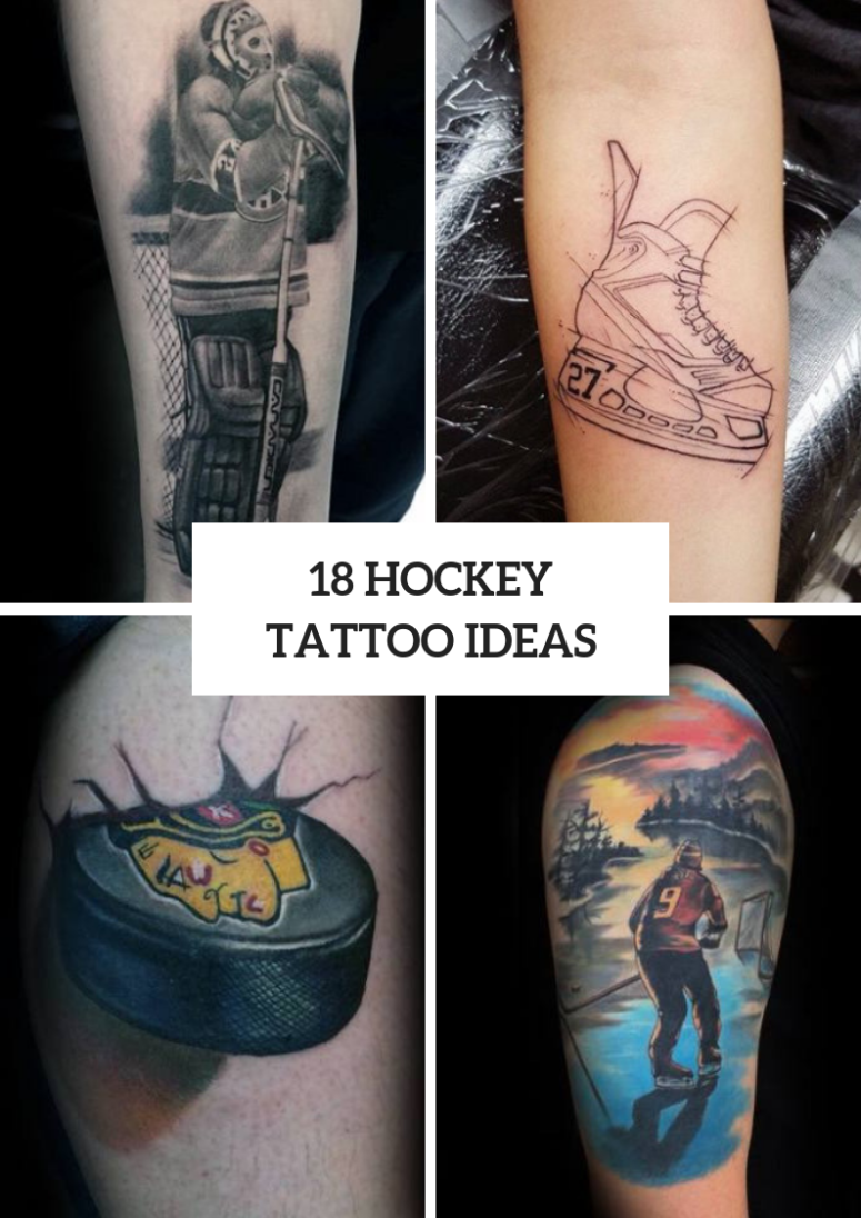 Hockey Tattoo Ideas For Real Men