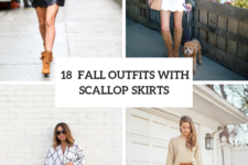 18 Outfits With Scallop Skirts For This Fall