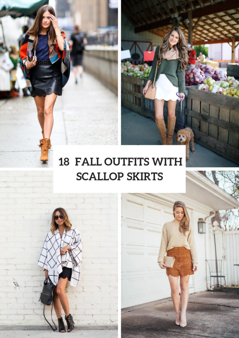 Outfits With Scallop Skirts For This Fall