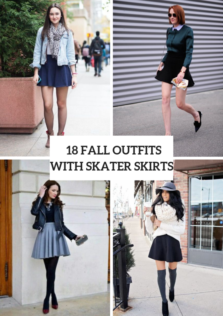 Outfits With Skater Skirts For This Fall