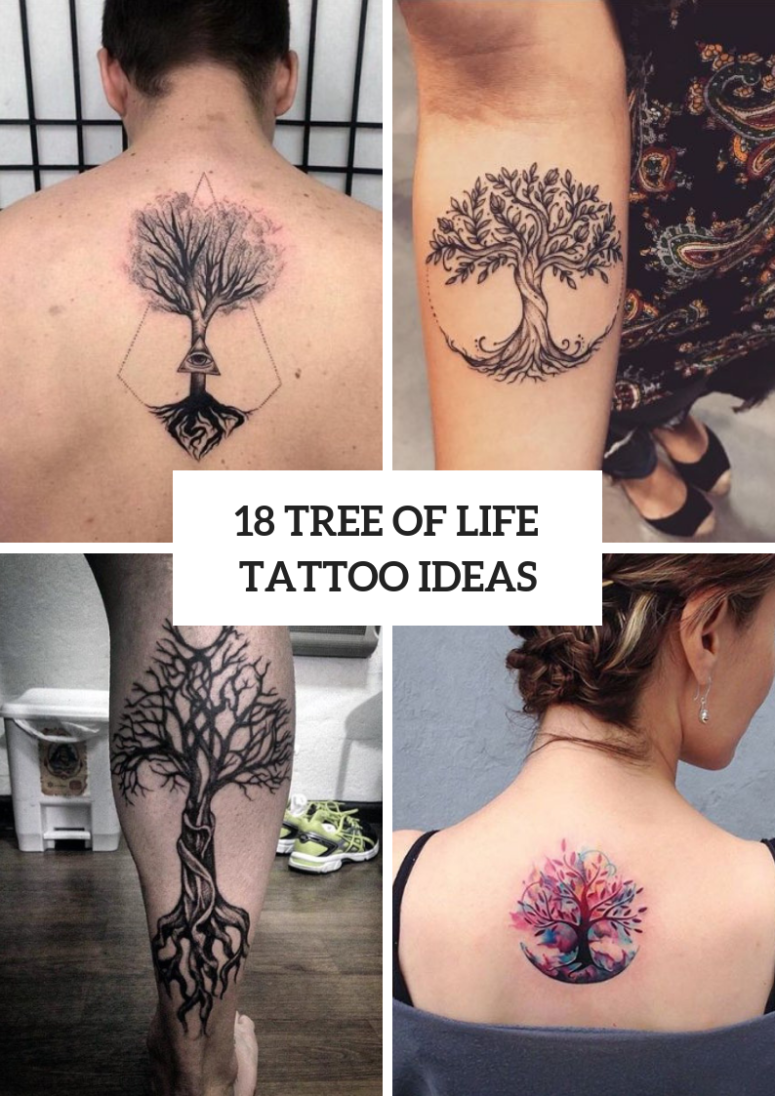 18 Tree Of Life Tattoos For Men And Women Styleoholic