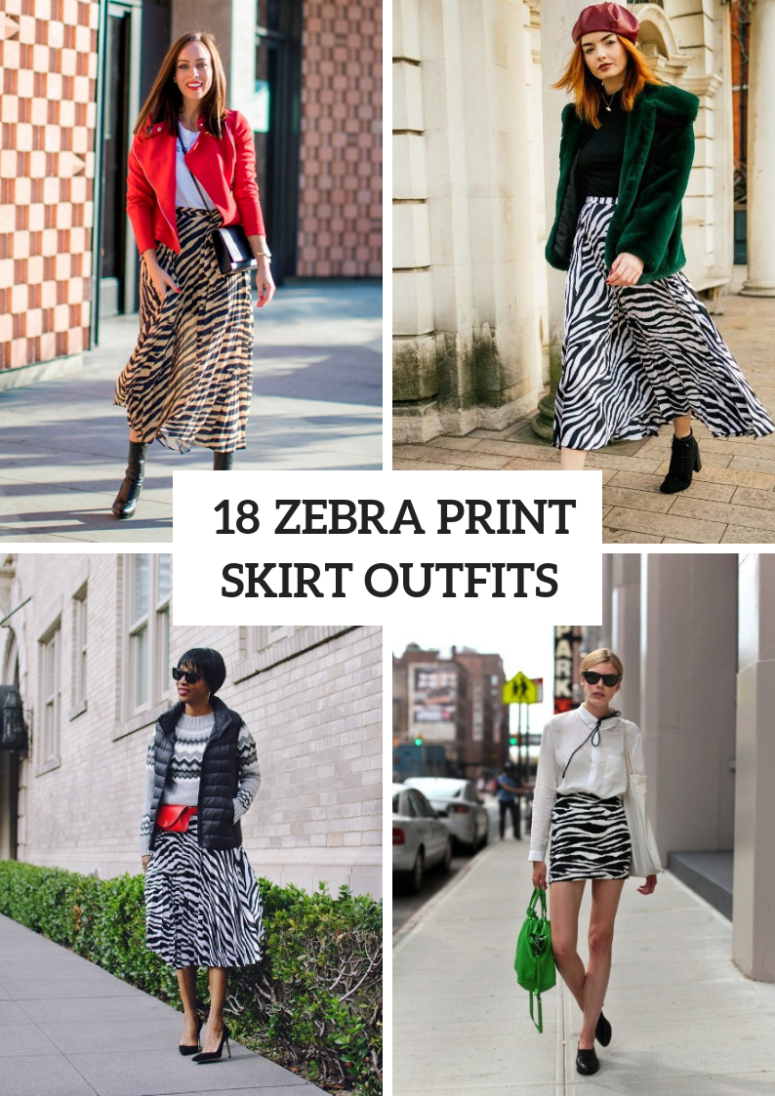 Trendy Zebra Printed Skirt Outfits For This Fall