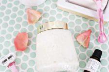 DIY whipped rose shaving cream