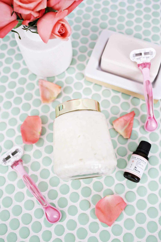 DIY whipped rose shaving cream (via abeautifulmess.com)