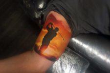 Beautiful tattoo on the hand