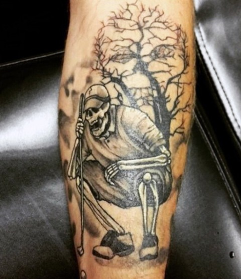 Cool tattoo on the leg