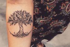 Cute tree of life tattoo on the forearm