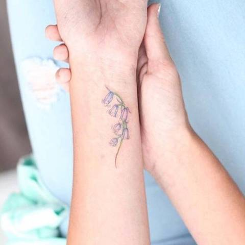 Gentle tattoo on the forearm