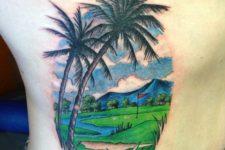 Golf field tattoo