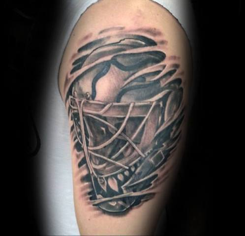 Hockey mask tattoo