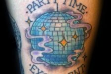 Party time tattoo for men