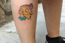 Ralph Wiggum with a rose tattoo idea