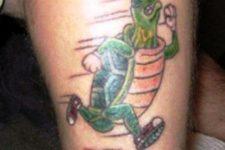 Running turtle tattoo idea