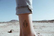 Simple tattoo on the leg