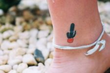 Tiny tattoo on the ankle